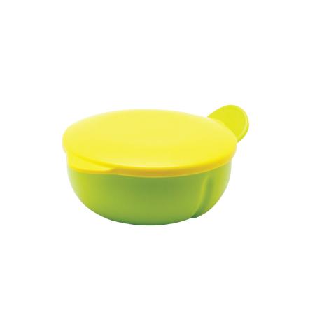 N5754 ชามอาหารเด็ก มีฝาปิด+ช้อนส้อม
